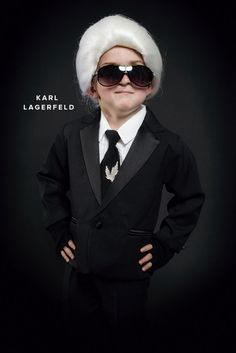 Stylish and Cute Children's Halloween Costume Ideas: Karl Lagerfeld of #Chanel