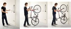Steadyrack Bike Rack - Vertical Wall Mount: Amazon.co.uk: Sports & Outdoors