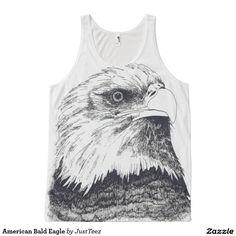 American Bald Eagle All-Over Print Tank Top