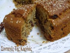 Greek Sweets, Greek Desserts, Greek Recipes, Greek Cake, Meals Without Meat, Cooking Cake, Different Recipes, Sweet Treats, Deserts