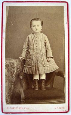 CDV PHOTO FIN XIX EMILE COMPIÈGNE à NOYON ENFANT FILLE MARIE PETITE MARRAINE in Collections, Photographies, Anciennes (avant 1900)   eBay