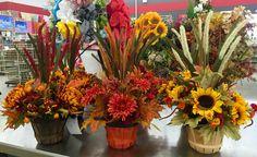 Fall centerpieces. 2016 Laura A. Tulsa Michaels(3864)