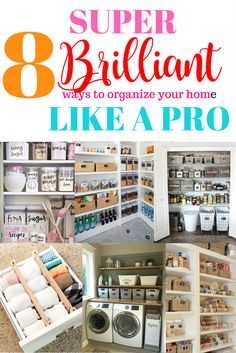 Organization ideas for your entire home. | Clutter | DIY | Easy DIY | NEAT Method | Pantry | How to organize