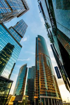 Modern skyscrapers of Moscow-City, Russia Russian Architecture, Beautiful Architecture, Russian Culture, Modern City, Russian Federation, City Landscape, World Cities, City Life, City Photography