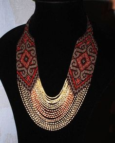 Seed Bead Necklace, Seed Bead Jewelry, Beaded Jewelry, Beaded Necklace, Jewelry Findings, Flower Necklace, Gemstone Jewelry, Handmade Necklaces, Handcrafted Jewelry