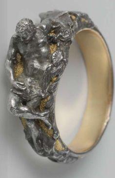 Ring with a reclining Vulcan, anoniem, c. 1540 - c. 1560
