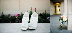 Jamie Tervort Photography, Oquirrh Mountain Utah Temple Wedding, White wedding shoes heels, coral, cream white wedding bouquet