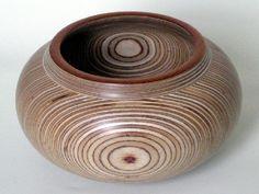 "Gary McGrath work 4- ""Plywood Bowl"" Wood Turning"