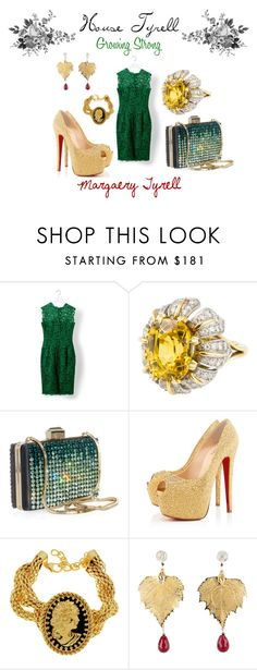 """""""Margaery Tyrell"""" by southernminimalist ❤ liked on Polyvore featuring Valentino, Tiffany & Co., Lanvin, Christian Louboutin, Bisou Bijoux Ariela, margaery, tyrell, game of thrones and a song of ice and fire"""