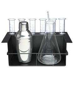 Let him unleash his inner nerd (or mad scientist) with this cocktail kit inspired by a chemist's lab. The set comes with an Erlenmeyer flask, test tubes, a glass stirring rod, and a cocktail shaker. With the right booze, he'll brew up fun cocktail concoctions to serve in the test tubes.
