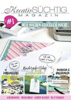 NEU im Shop: das Kreativsüchtig Magazin zum vorbestellen! Lieferung ab 20.09.2017 | www.danipeuss.de | #danipeuss #onlineshop #kreativsüchtigmagazin |Scrapbooking, Mixed Media, Karten basteln und mehr