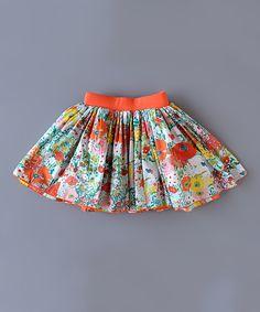Orange Ladybird Reversible Skirt - Toddler & Girls | zulily