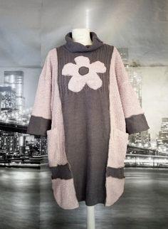 Light Pink& gray sweater dress,poncho style Grey Sweater Dress, Pink Grey, Pullover, Sweaters, Dresses, Style, Fashion, Vestidos, Swag