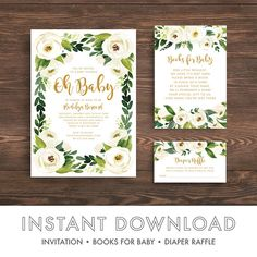 Baby Shower Program Template Wedding Programs Template Order Of Ceremony Printable  Greenery .
