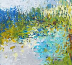 Abstract Impressionism Large Original Painting by JessicaTorrant