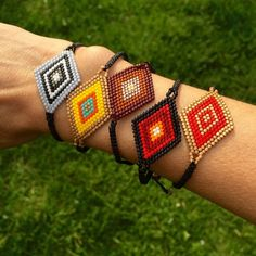 $16 Hand Made Ojito Bracelet *Hand Made from artisans of Jalisco, Mexico.          *Huichol art, they use the Ojito (eye) for protection.                                                                   *Made of fine beads, Swarovski crystals and waxed thread.                                                            *Bracelet is adjustable, fits best small wrists          *Price is FIRM Jewelry Bracelets