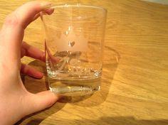 Glas etsen voor communicantje