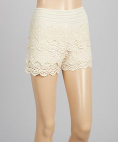 Look at this Whispers Natural Lace Shorts on #zulily today!