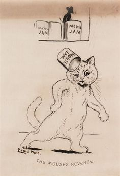 Find artworks by Louis Wain (British, 1860 - on MutualArt and find more works from galleries, museums and auction houses worldwide. Art School London, Louis Wain Cats, Children's Book Illustration, Cat Illustrations, Vintage Cat, Freelance Illustrator, Cat Drawing, Art Studies, I Love Cats