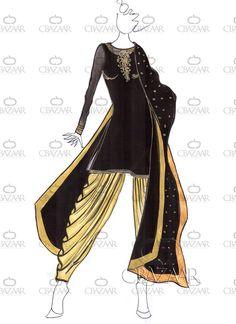 DIY Black Georgette Patiala Suit
