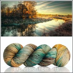 RIVERDAWN 'RESILIENT' SUPERWASH MERINO SOCK YARN by expression fiber arts - perfect for knitting or crocheting or weaving