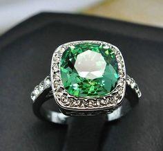 Emerald Ring Emerald Engagement Ring Diamond Halo Emerald Ring May… Platinum Engagement Rings, Engagement Jewelry, Platinum Ring, Emerald Jewelry, Emerald Rings, Ruby Rings, Emerald Diamond, Emerald Cut, Diamond Rings