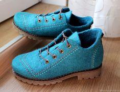 902c68a90 Обувь ручной работы. Заказать Валяные полуботинки