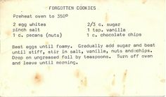 Forgotten Cookies are a simple, vintage meringue cookie that is a 'must make' especially for the holidays.  Paired with Scandanavian Glogg for a best cold weather treat!