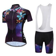 2017 MTB Bike Jersey bib shorts set Ropa Ciclismo maillot Women Cycling  Clothing bicycle Top Bottom Summer Sports racing T-shirt 3a713e084