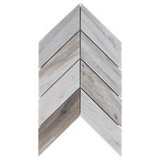 Golden Valley Chevron Marble Mosaic - 9in. x 15in. - 100248475 | Floor and Decor