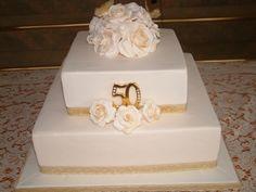 50th Wedding Anniversary By idocakesbundy on CakeCentral.com