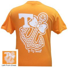 Tennessee Vols Chevron Anchor Bow Girlie Bright T Shirt | SimplyCuteTees