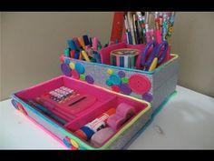 Organizador de escritorio reciclado /Portalápices - YouTube