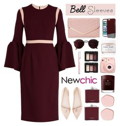 """Bell Sleeves:NewChic"" by dianakhuzatyan ❤ liked on Polyvore featuring Roksanda, Sophia Webster, Sasha, Original Penguin, Herbivore, Ray-Ban, NARS Cosmetics, Fujifilm, Molton Brown and Aspinal of London"