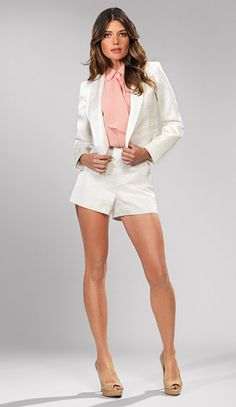 #Kardashian Collection white and pink in shorts
