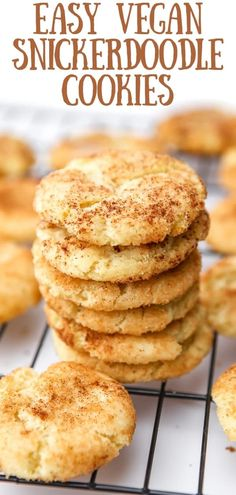 These vegan snickerdoodles are a soft and chewy cinnamon sugar cookie that's perfect for any occasion.  They're easy to make and they bake up perfectly every time!