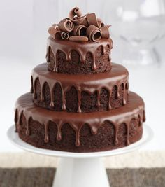The Cake is such mouth-watering and yummy delicacy that is loved by the individuals of all ages. If you also want to buy cake online india for you or your loved one, you can trust Sale Bhai for online cake delivery. Chocolate Cake Designs, Chocolate Ganache Cake, Chocolate Cake Images, Chocolate Chocolate, Cupcakes, Cupcake Cakes, Cake Serving Chart, Bolos Naked Cake, Ultimate Chocolate Cake