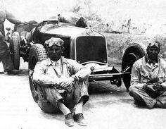 Los principales rivales para la carrera de 1930, Achille Varzi y Tazio Nuvolari