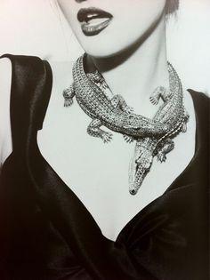 Vintage Cartier alligator necklace