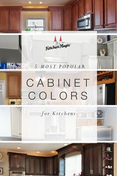 When you are ready to upgrade your kitchen cabinets, your first considerations will likely involve color schemes. The top 5 kitchen cabinet colors. Classic Kitchen Cabinets, Distressed Kitchen Cabinets, Contemporary Kitchen Cabinets, Kitchen Cabinet Styles, Glass Cabinet Doors, Custom Kitchens, Built In Cabinets, Kitchen Colors, Popular