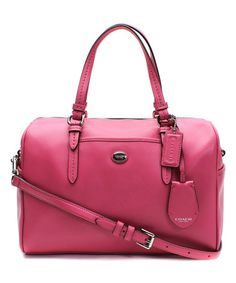 This Strawberry Nancy Leather Satchel by Coach is perfect! #zulilyfinds