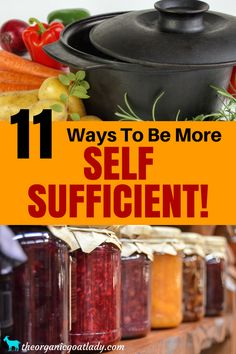 11 Ways To Be More Self Sufficient! Self Sufficient Living, Self Sufficient Homestead, Frugal and Self Sufficient Tips