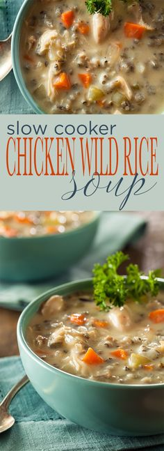 Slow Cooker Chicken and Wild Rice Soup is simple to make, requiring less than 10 ingredients and verylittlehands on prep. A hearty and comforting soup that's perfect for Fall and Winter.