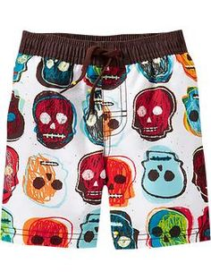 skull swim trunks for baby