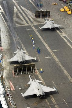 """Rafale Marine - onboard french aircraft carrier """"Charles de Gaule"""""""
