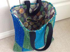 Finished rag rug tote bag! Karen Isenhower