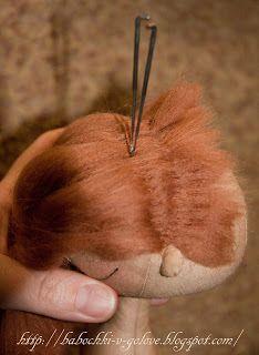 needle felting hair,,,,,translate to English