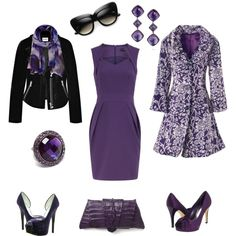 A fashion look from March 2012 featuring purple dress, goth coat and biker jacket. Browse and shop related looks.