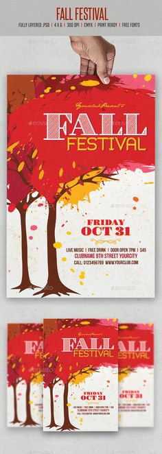 Fall Festival Flyer Template PSD | Buy and Download: http://graphicriver.net/item/fall-festival-flyer/9000959?WT.ac=category_thumb&WT.z_author=creativeartx&ref=ksioks