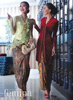 Kebaya Hijab, Batik Kebaya, Kebaya Dress, Kebaya Muslim, Thai Traditional Dress, Traditional Fashion, Traditional Outfits, Model Kebaya Modern, Kebaya Modern Dress